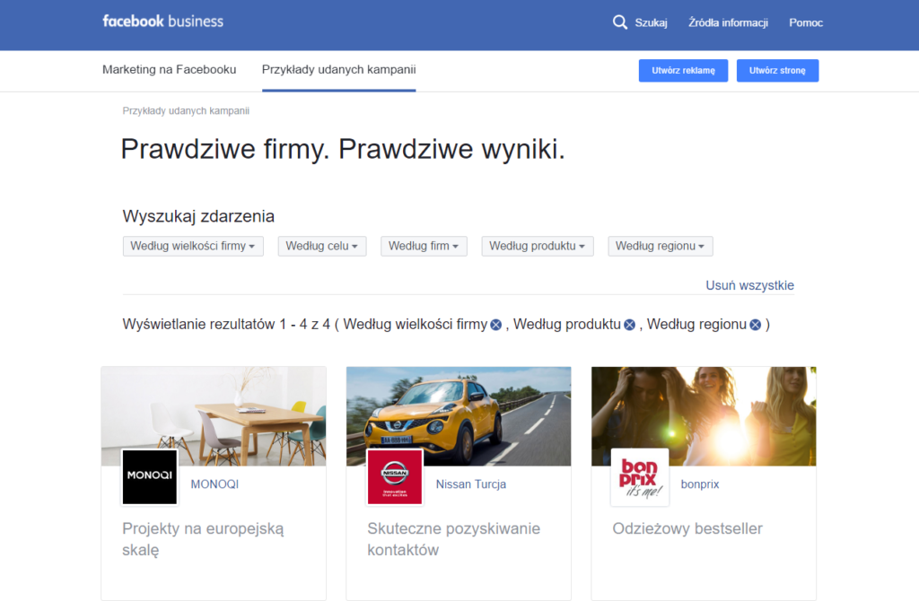 W pomocy Facebook'a można znaleźć wiele inspiracji i porad. Zajrzyj, bo warto!