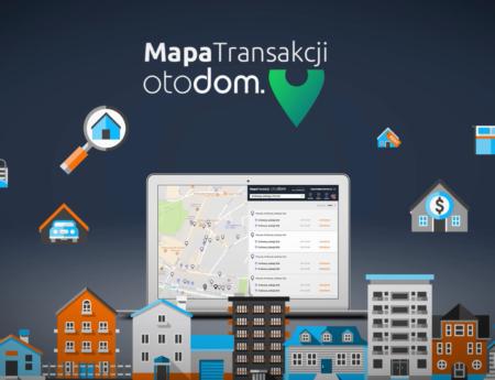 Mapa Transakcji – nowa usługa Otodom dla pośredników nieruchomości