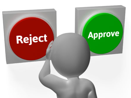 Reject Approve Buttons Showing Refusal Or Accepted